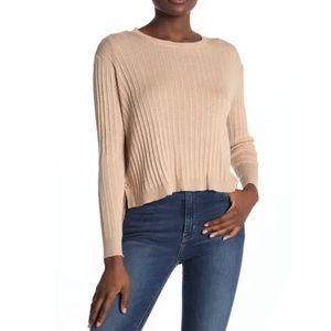 Cotton Emporium Side Button Crew Neck Sweater